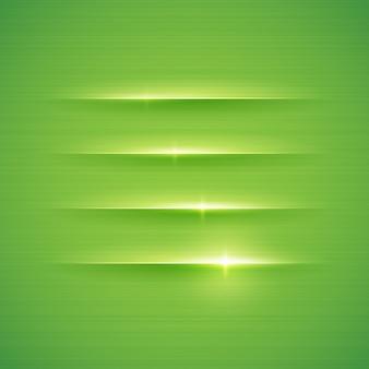 Rayures brillantes sur fond vert. illustration.