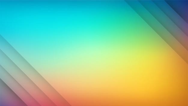 Rayures de couleur dégradées multicolores composition de formes dynamiques.
