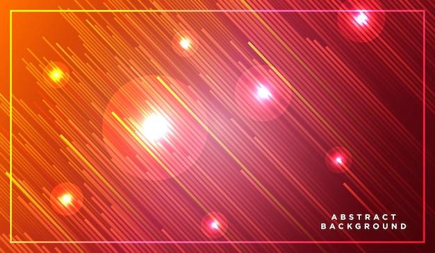 Rayures diagonales lignes s'élevant avec une lumière rougeoyante