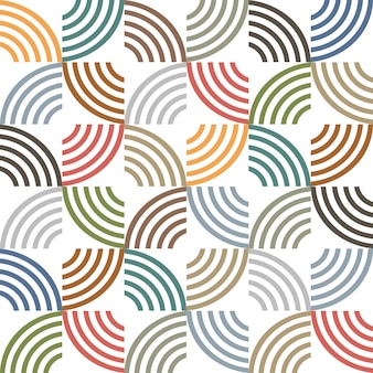 Rayures géométriques sans couture de couleur rétro