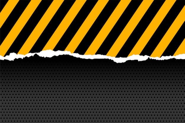 Rayures noires et jaunes en style papier découpé