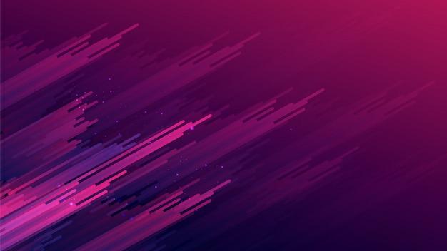 Rayures violet dégradé abstraite sur fond rose violet foncé dégradé