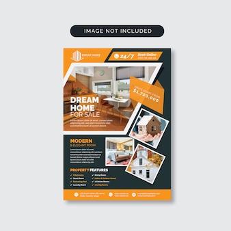 Real estate home sale flyer