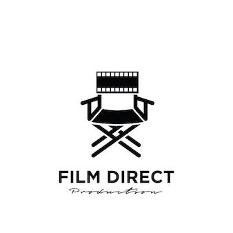 Réalisateur vidéo studio movie film production logo design