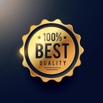 Realisitc meilleur label d'or de luxe de qualité pour votre publicité de marque