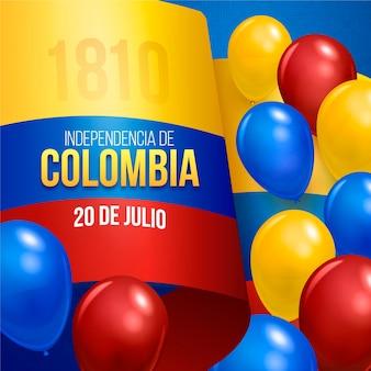 Réaliste 20 de julio - illustration de l'indépendance de la colombie