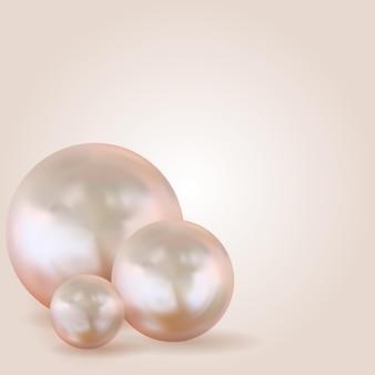 Réaliste 3d trois perles