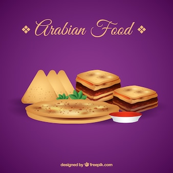 Réaliste arabian alimentaire