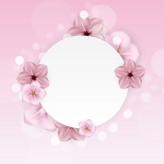 Réaliste belle fleur rose 3d