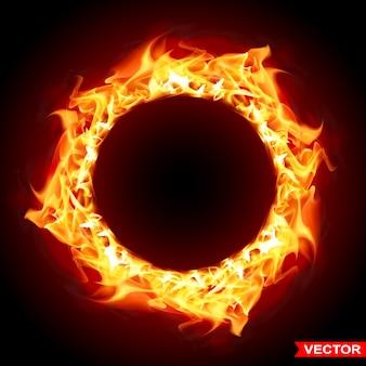 Réaliste brûlant noir feu flamme soleil