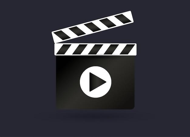 Réaliste clapper.cinema.board sur un fond blanc.film.time. illustration.
