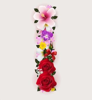 Réaliste de la police de la belle fleur.