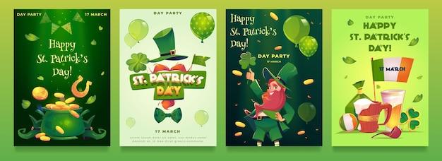 Réaliste st. modèles d'affiche de la fête de patrick