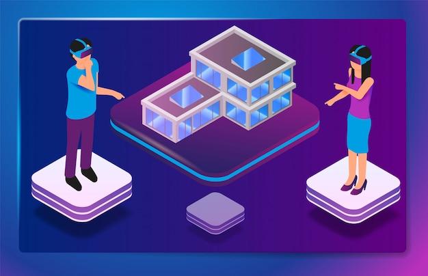 Réalité virtuelle augmentée isométrique pour les architectes