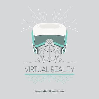 La réalité virtuelle dessin fond