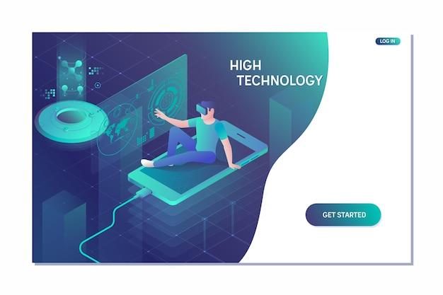 Réalité visuelle et concept technologique futur