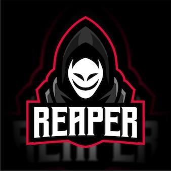 Reaper avec masque de logo de jeu esport