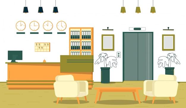 Réception de bureau d'entreprise réussie, dessin animé.