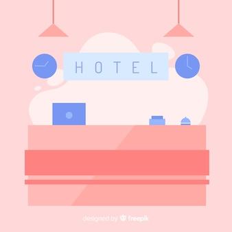 Réception de l'hotel