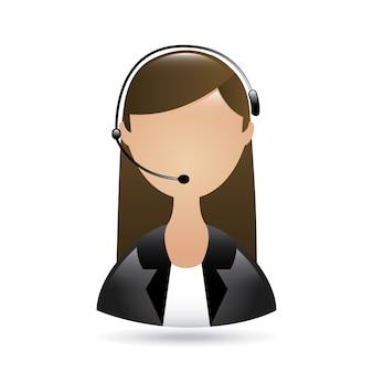 Réceptionniste avec téléphone
