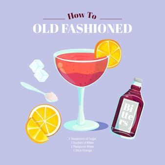 Recette de cocktail à l'ancienne