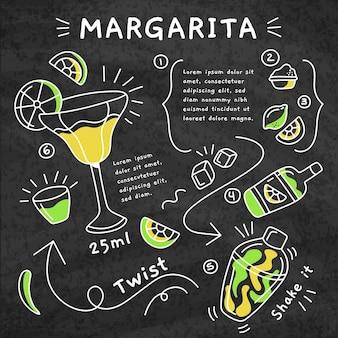 Recette de cocktail margarita tableau noir