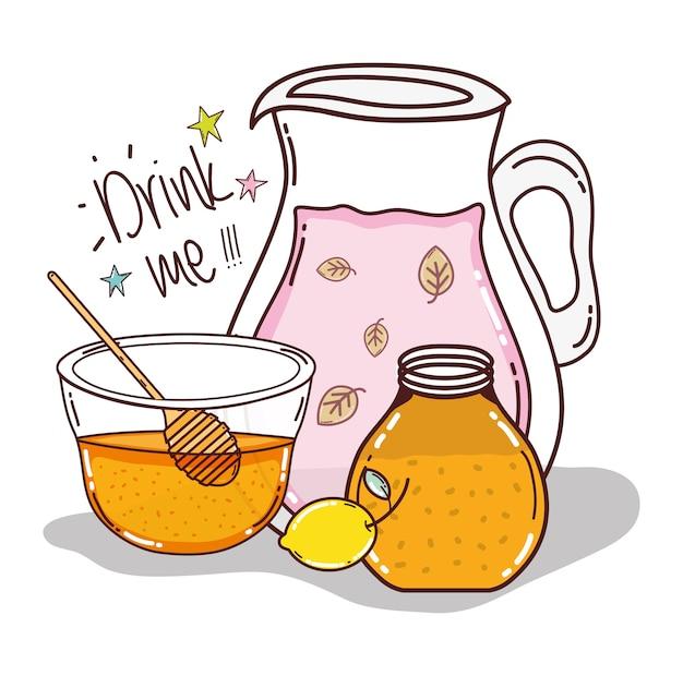 Recette de detox au miel et au citron