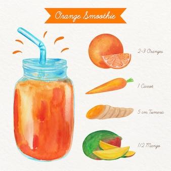Recette illustrée de smoothie sain