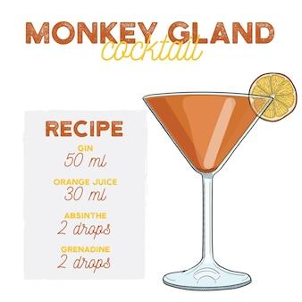 Recette des ingrédients de la boisson cocktail monkey gland