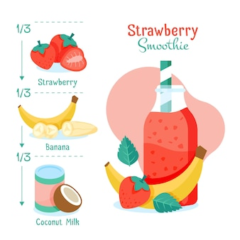 Recette de smoothie avec des ingrédients sains