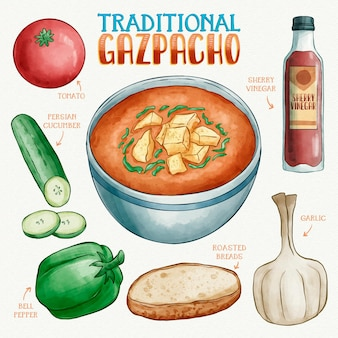 Recettes traditionnelles de gaspacho