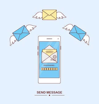 Recevoir un message avec un smartphone