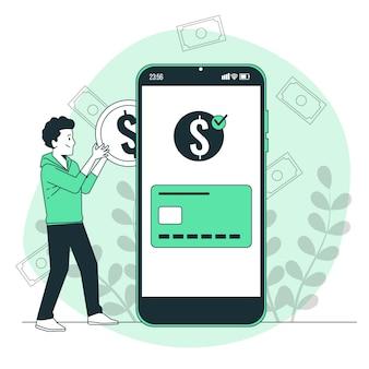Recharger l'illustration du concept de crédit