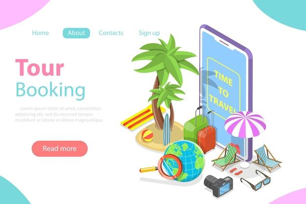 Recherche de circuits en ligne, vacances d'été, réservation d'hôtels et de billets.