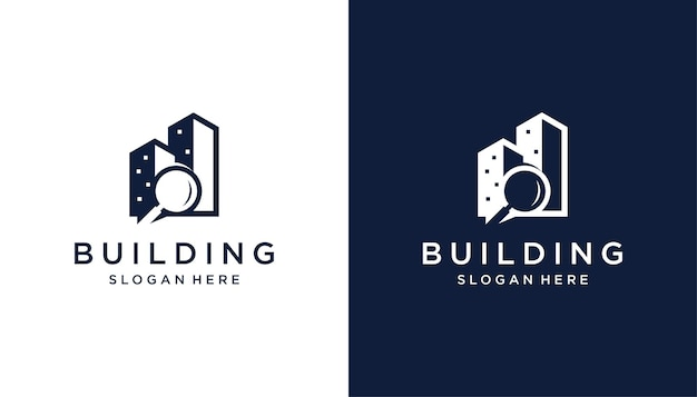 Recherche de conception de logo de bâtiment pour l'immobilier, entreprise de construction