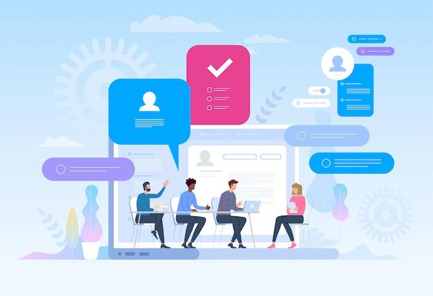 Recherche d'emploi. recrutement. chasse à la tête dans les réseaux sociaux