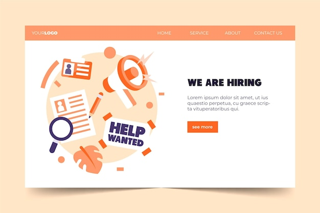 Recherche d'emplois que nous embauchons page de destination