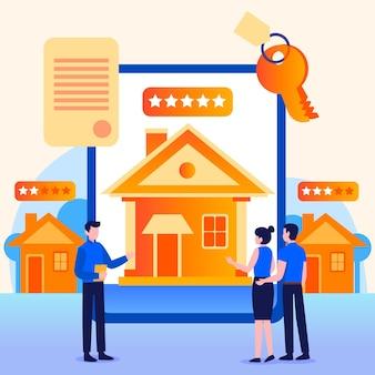 Recherche immobilière avec des personnages