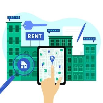 Recherche immobilière avec tablette