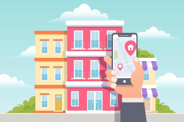 Recherche immobilière sur téléphone mobile