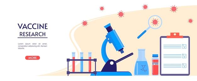 Recherche médicale ou en laboratoire test du vaccin contre le coronavirus outils de laboratoire recherche sur les vaccins