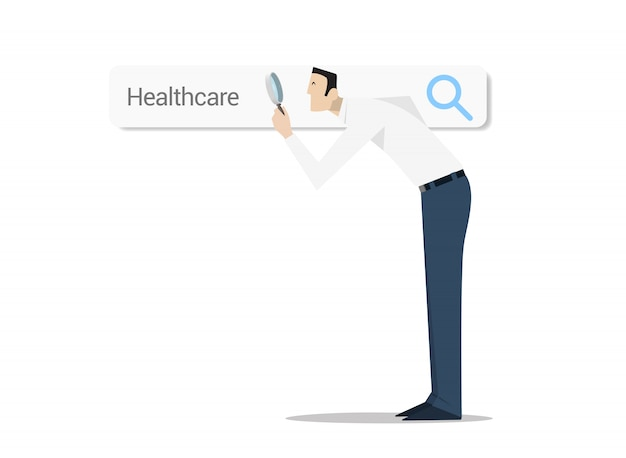 Recherche d'options de soins de santé concept