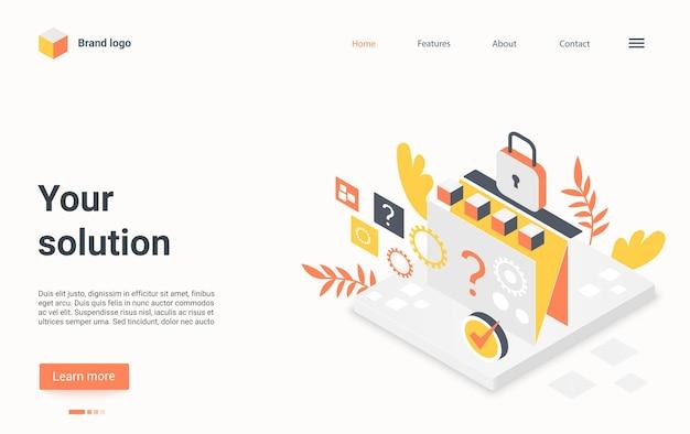 Recherche de page de destination de solution d'entreprise et réalisation du service de tâches de travail d'entreprise