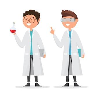 Recherche scolaire en chimie.