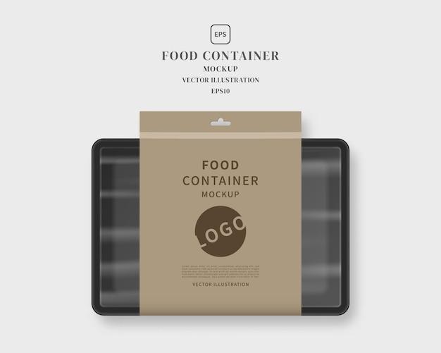 Récipient alimentaire avec illustration d'étiquette