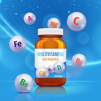Récipient de complexe de vitamines