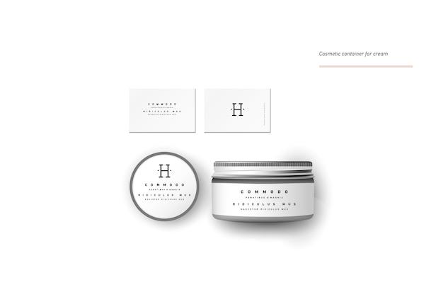 Récipient cosmétique vierge réaliste pour crème, poudre ou gel. modèle de package.