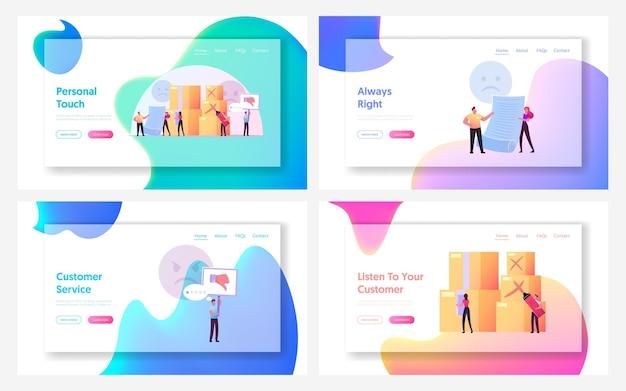 Réclamer l'ensemble de modèles de page de destination du client