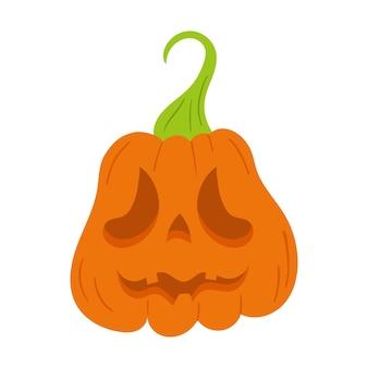 Récolte de citrouille thanksgiving vector illustration scary jack o lantern citrouille d'halloween