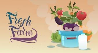 Récolte de légumes Eco Fresh Farm Logo